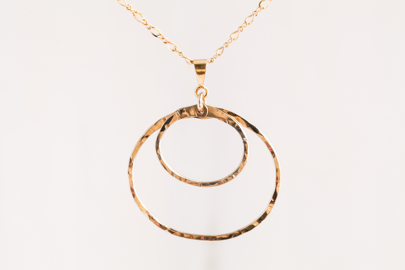 Double happiness rustic double circle pendant necklace double happiness rustic double circle pendant necklace hammered gold dirtypretty artwear aloadofball Image collections