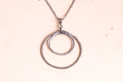 double-happiness-rustic-double-circle-pendant-necklace-hammered-steel-iron-dirtypretty-artwear-2