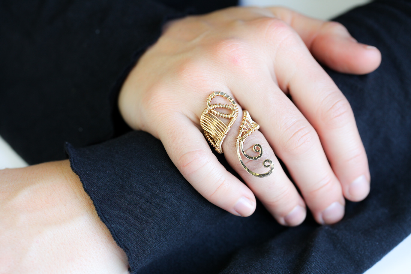 Lakshmi henna inspired adjustable statement ring for What is gold polished jewelry