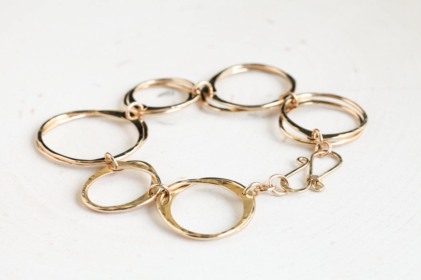 Moments of zen rustic hammered chain bracelet polished for What is gold polished jewelry