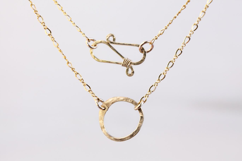 Simple zen circle rustic minimalist circle necklace hammered simple zen circle rustic minimalist circle necklace hammered gold aloadofball Gallery