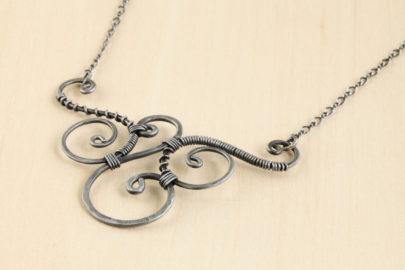 trio-handmade-wire-wrapped-spirals-necklace-hammered-steel-iron-dirtypretty-artwear-2