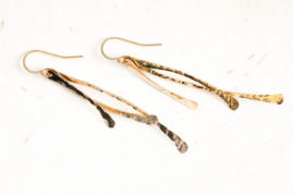 trio dangle earrings - gold earrings by dirtypretty artwear