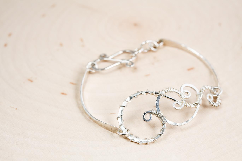 Twisted Teardrop Handmade Wire Wrapped Teardrop Bracelet
