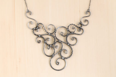 urban-whimsy-wire-wrapped-spirals-statement-necklace-hammered-steel-iron-dirtypretty-artwear-2-2