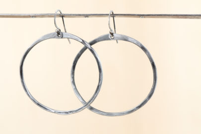 zen-circle-handcrafted-drop-hoop-earrings-hammered-steel-iron-dirtypretty-artwear-2