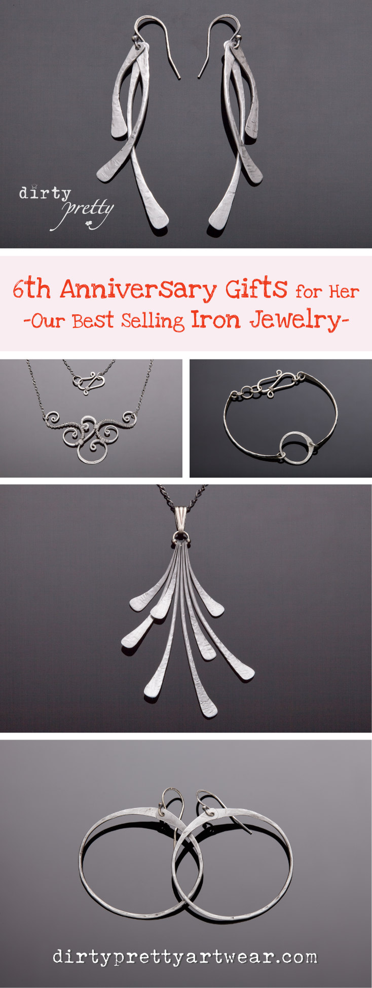 6th Anniversary Gift Our Best Selling Iron Jewelry Dirtypretty Artwear