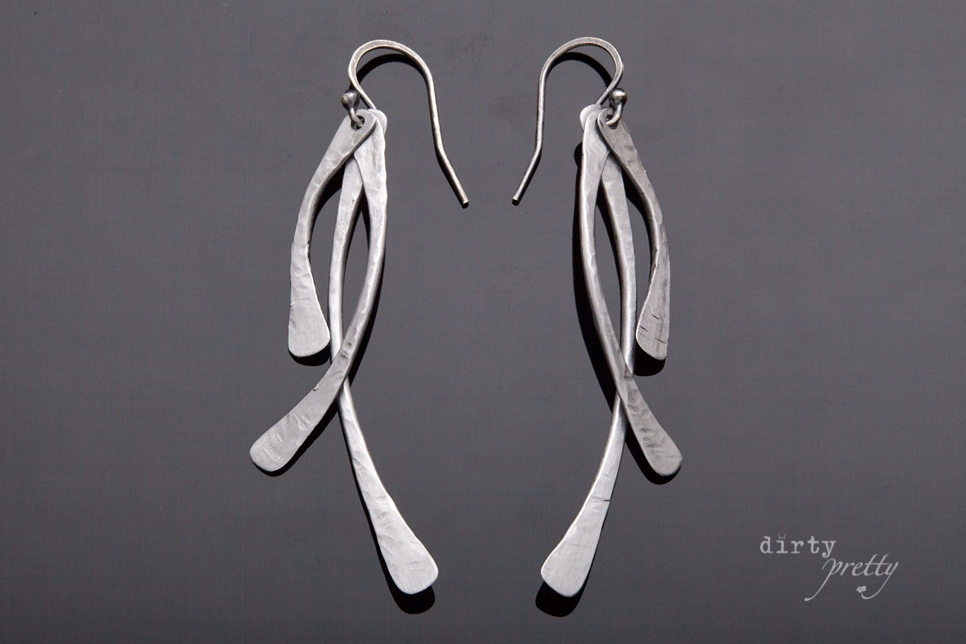 6th anniversary gift-Trio-Iron Earrings-dirtypretty artwear