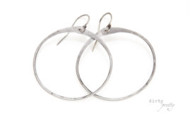 11th wedding anniversary gift - Zen Circle Earrings - Steel Anniversary Gifts by dirtypretty artwear