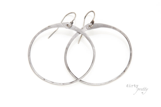 6th wedding anniversary gift - Zen Circle Earrings - Iron Anniversary gifts by dirtypretty artwear