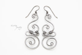 11th Anniversary Ideas - 11 year anniversary gift - Whimsy Steel Earrings - dirtypretty artwear