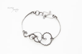 6 year anniversary gifts - Twisted Teardrop Iron Bracelet - unique anniversary gifts - dirtypretty artwear