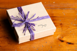 wrapping for our modern rustic 11 year anniversary jewelry designs - dirtypretty artwear