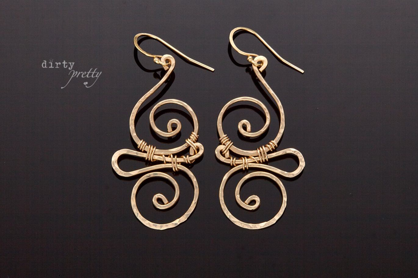 14th Anniversary Gifts For Her Whimsy Gold Earrings By Dirtypretty Artwear
