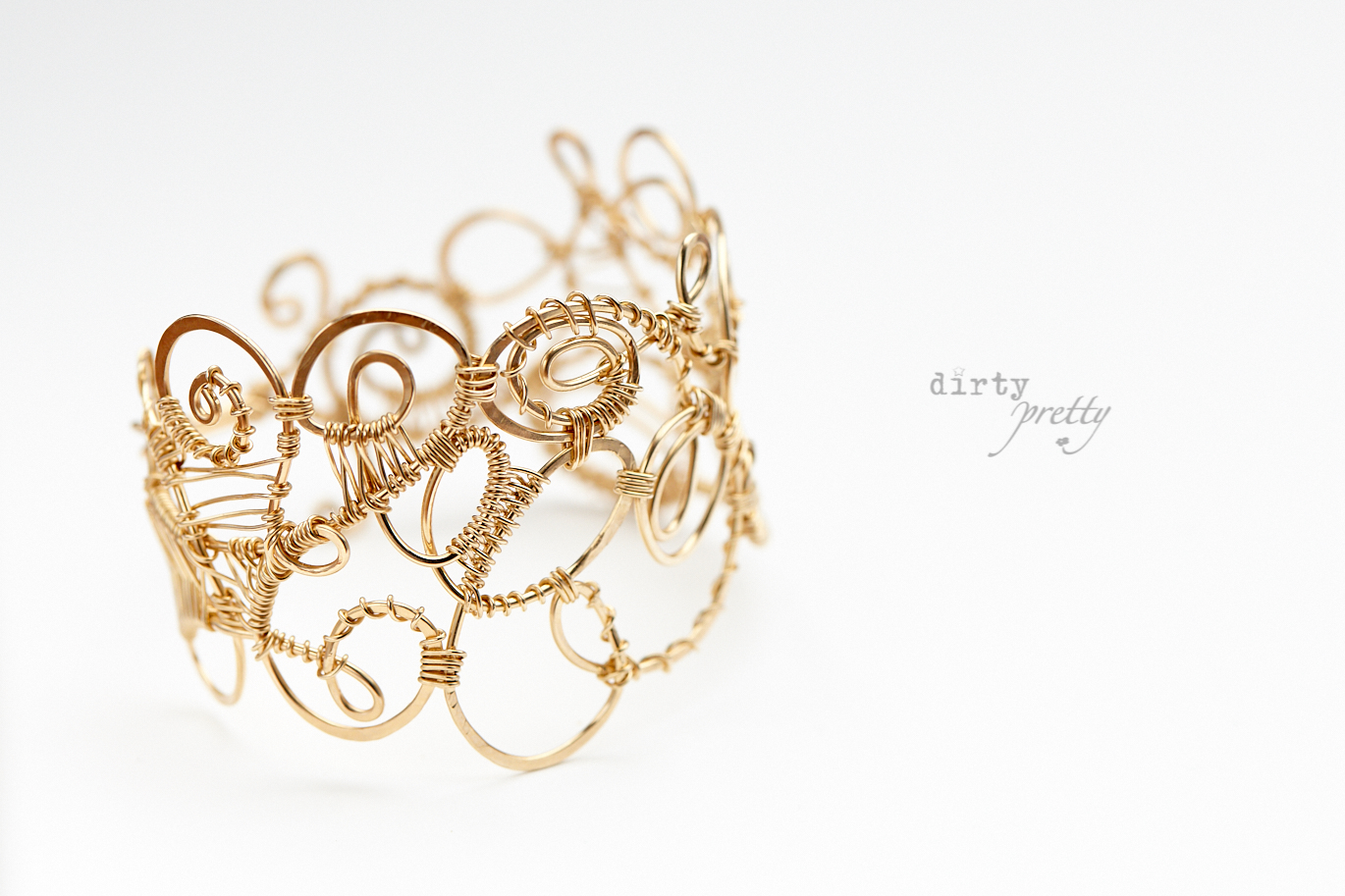 14th Wedding Anniversary Gifts Organized Chaos Gold Bracelet By Dirtypretty Artwear For