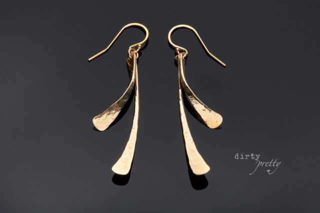 14th wedding anniversary gifts - Small Feather Gold Earrings by dirtypretty artwear - Modern anniversary gifts