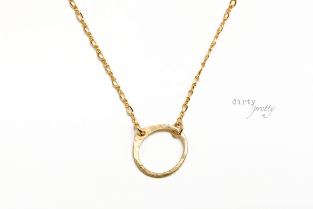14th wedding anniversary gifts - Tiny Zen Circle Gold Necklace by dirtypretty artwear - Anniversary gifts for her