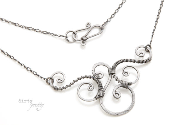 6th Year Anniversary Gift Ideas - 6th anniversary Trio Iron Necklace by dirtypretty artwear