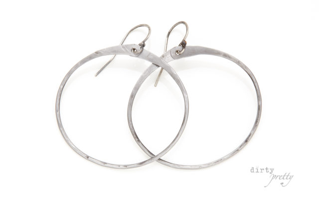 6th Year Anniversary Gift Ideas - 6th anniversary Zen Circle Iron Earrings by dirtypretty artwear