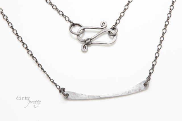 6th anniversary - Simple Chic Iron Necklace - 6th Year Anniversary Gift Ideas by dirtypretty artwear