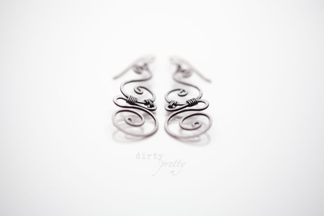 Romantic anniversary ideas for your 6th anniversary - Whimsy Iron Earrings by dirtypretty artwear