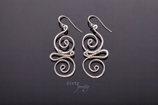 Anniversary Gifts for Wife - Whimsy Silver Earrings by dirtypretty artwear - gifts for wife