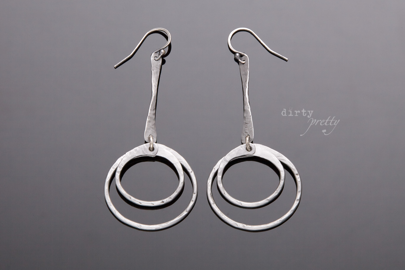 Anniversary Gifts for wife - Double Happiness steel Earrings by dirtypretty artwear - gifts for wife