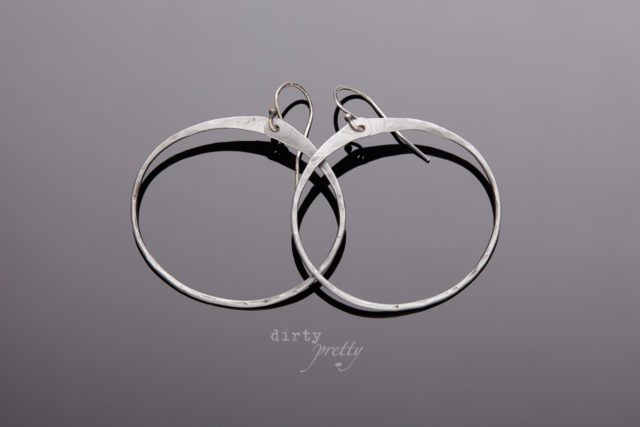 Anniversary Gifts for wife - Zen Circle Steel Earrings by dirtypretty artwear - gifts for wife