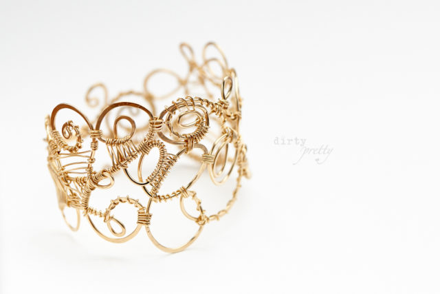 Christmas Gifts for Wife - Organized Chaos Gold Bracelet by dirtypretty artwear - rustic jewelry
