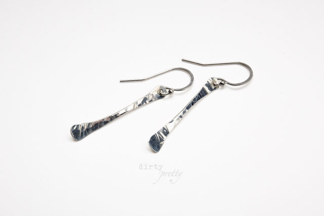 Christmas Gifts for Wife - Simple Chic Silver Earrings by dirtypretty artwear - rustic jewelry
