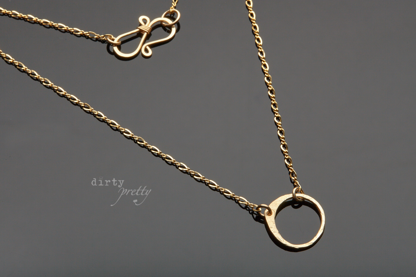 Christmas Gifts for Women - Tiny Zen Circle Gold Necklace by dirtypretty artwear - Christmas stocking stuffers